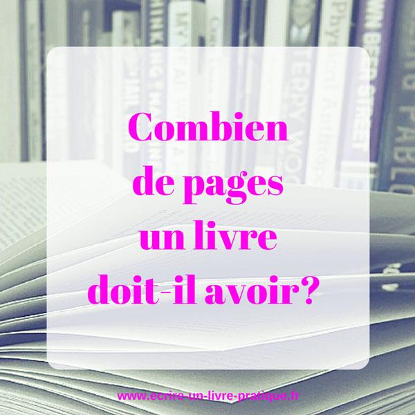 Combien de pages un livre doit-il avoir?