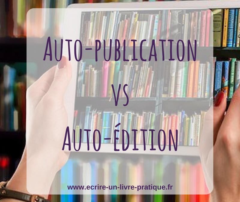 Autoédition ou autopublication?