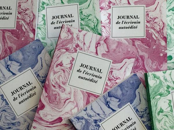 Journal de l'écrivain autoédité, le livre-cahier des futurs auteurs