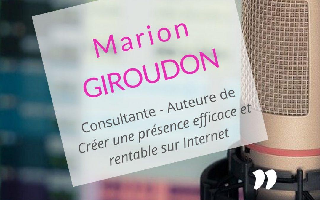 Marion Giroudon : le livre m'aide à prospecter